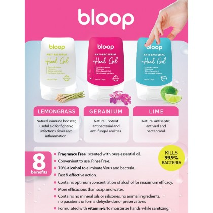 Bloop Hand Sanitizer Gel Gift Set